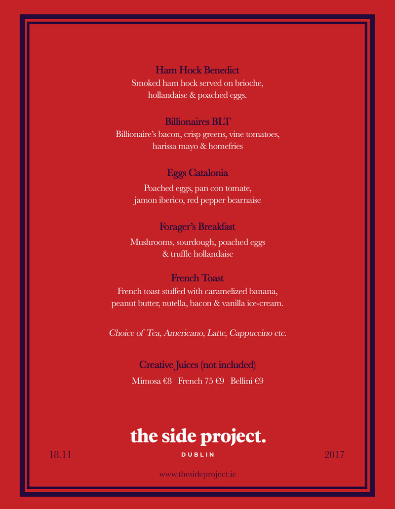 The Side Project Menu